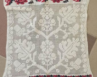 Crete Greece, Home Decor, Housewares, Crochet, Dining, Entertaining,Doily, Handmade ,embroidery large Long