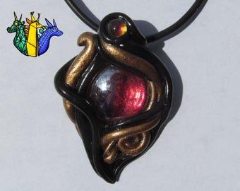 CUSTOM abstract pendant or pin