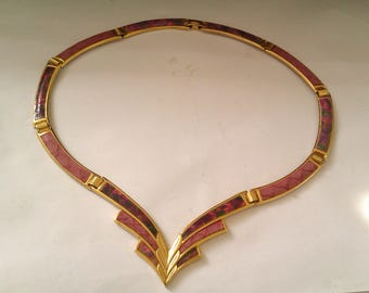 deco gold coloured necklace/choker