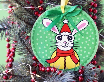 Bunny Ornament Etsy - Christmas Tree Decorations Kids