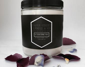 Victorian Romance Novel Candle   Book Candle   White Grapefruit   Bergamot   Cashmere   Literary Candle   Poetry Candle
