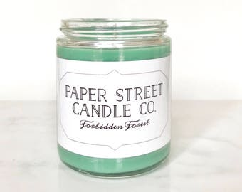 Forbidden Forest | Firewood Blue Spruce Soy Wax Candle | book candles | literary candles | Christmas Candle