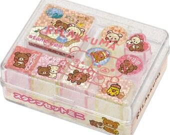San-x Rilakkuma Rubber Stamp set - 30301