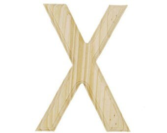 """6"""" Blank Unfinished Wooden Letter X"""