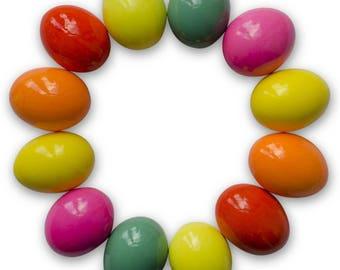 "2.5"" Set of 12 Real Eggshell Pysanky Easter Eggs"