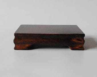 Solid Wood Display Stand for Suiseki, Bonsai, Minerals, Crystals and Other Collectibles