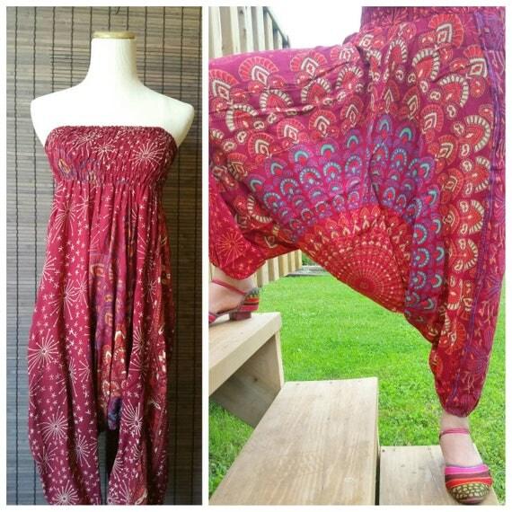 Super soft Red harem pants|Harem Boho Pants|Mandala Harem Pants|Printed Harem Pants|Boho fashion|Bohemian fashion|Rayon pants|Beach Pants