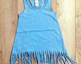 6X AZURE (you choose design) fringe dress