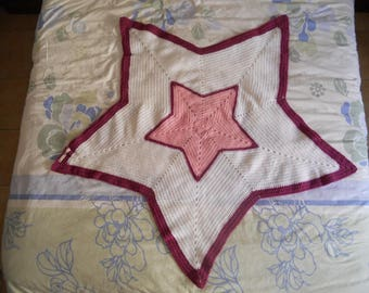 Cover made for girl crocheted star