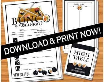 Bunco & Sushi Night