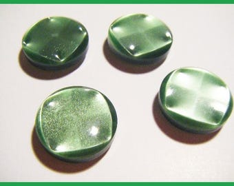 Set of 4 buttons Green 2.2 cm