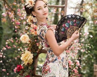 Lace Blouson Dress