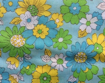 1960s Summer Floral Yardage