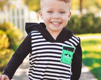 Halloween rompers, feltie patches or zombie fabric, choose style and size nb up to 5t. please read description before ordering
