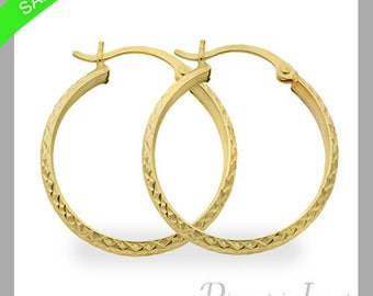3 mm Hoop Earrings In 14k White Gold Now On Sale