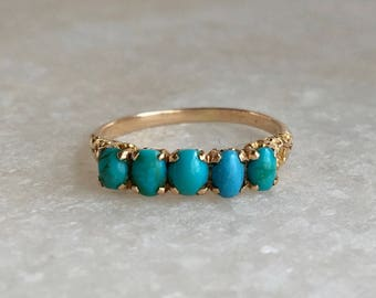 c. 1800's Victorian Turquoise Band
