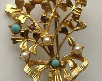 1950S GOLDTONE  brooch