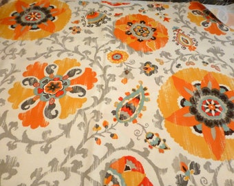 "Outdoor/Indoor fabric~P. Kaufmann~""Silsila""~Gold~54"" wide"