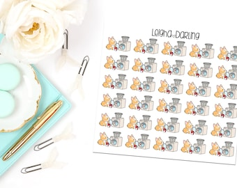 Laundry Corgi Planner Stickers