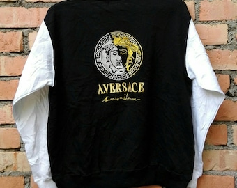 Rare!!! Alfredo Medusa Logo Pullover Sweatshirt Large Size