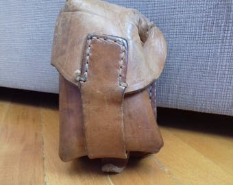 Vintage leather ammo pouch from Yugoslavian Army 80's or 70's