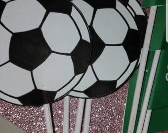 Soccer Ball Centerpieces Cutouts