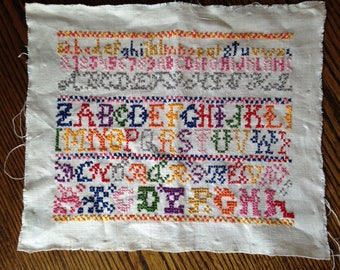Vintage Embroidery Sampler 1970s