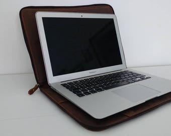 Real Leather laptop case laptop case and genuine leather documents