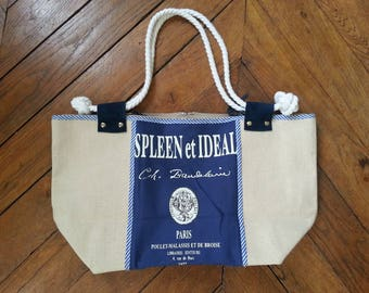 Bookseller canvas shoulder bag