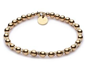 Full luxury ball bracelet • 5 mm • gold