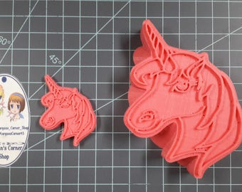 Unicorn Head Plastic Mold or Silicone Mold, Resin Mold, clay mold, unicorn mold, jewelry mold, horse mold, wax, soap mold, bath bomb mold