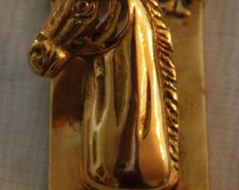 Vintage Brass Unicorn Paper Clip/Letter Holder, Aldon Accessories Ltd.