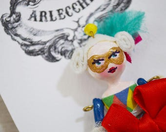 Arlecchina miniature art doll