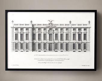 18TH C. ENGLISH TOWNHOUSE 6, The British Architecture, Architectural Drawings, Architecture Prints, Classical Art, Elevation Drawings, Chic