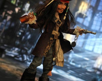 OOAK Monster High doll Captain Jack Sparrow Pirates of the Caribbean