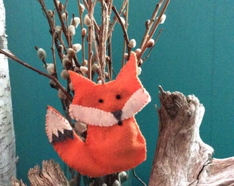 Handmade fox ornament
