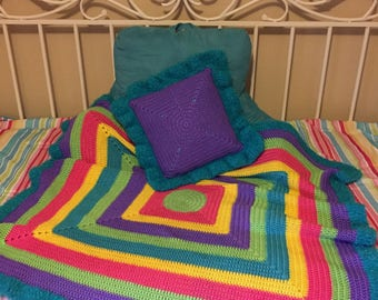 Dazzling Blanket With Matching Pillow