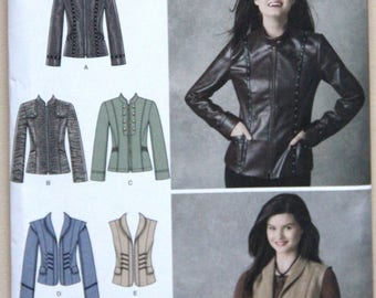 Simplicity 2341 Sewing Pattern Size U5 16-24 Jackets Vests Uncut