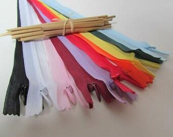 10 zipper 40 cm invisible zipper color-10 non detachable nylon - 3.62