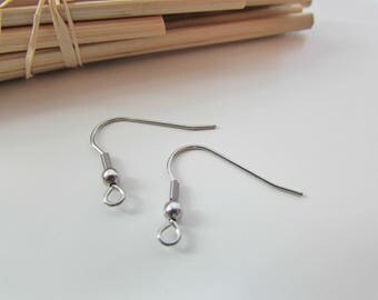 10 crochet hook in stainless steel 19 x 22 mm for earring - 66.53