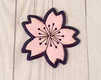 Sakura Blossom Iron on Patch