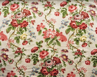 "Colefax and Fowler cotton floral fabric ""Eugenie"", 56 x 28"""