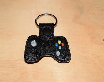 Game Controller key fob key chain zipper pull bag tag.
