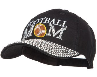 Football Mom Jewel Cap