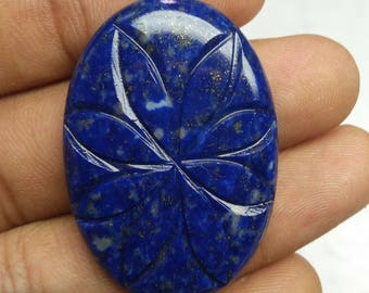 100% Natural Carving Lapis lazuli oval  cabochone to quality gemstone