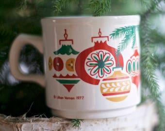 Vintage 70s Christmas Mug | Lillian Vernon Vintage Mug