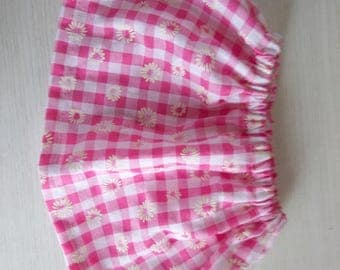 Baby girls pink daisy skirt