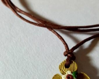 Flower Cross Necklace