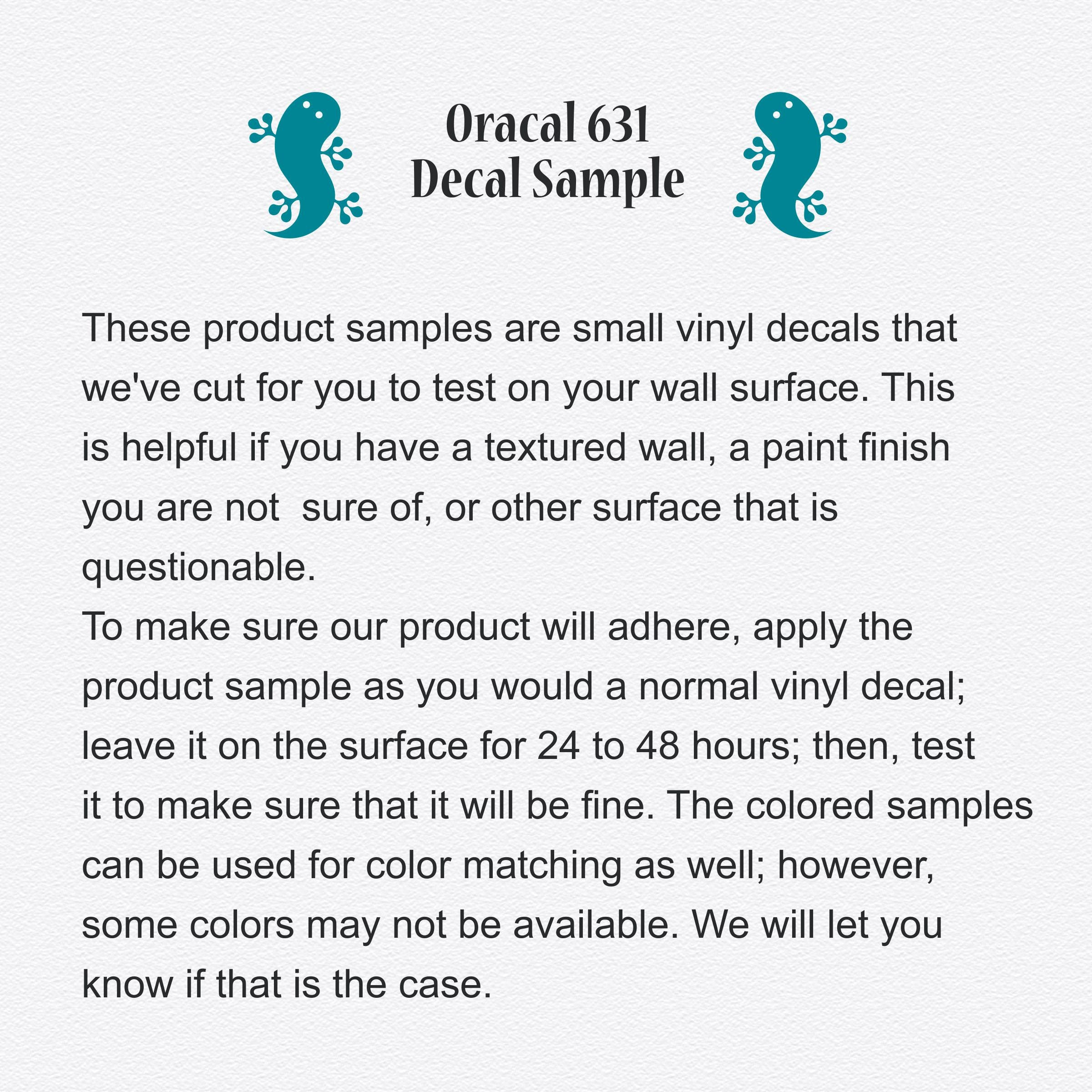 Oracal  Removable Vinyl Decal Samples Gecko Vinyl Wall - How to make vinyl decals stick to textured walls
