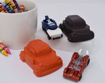 XL Car Crayons - Set of 2 - Recycled Crayons - Car Crayons - Cars - Birthday Party Favors - Party Favor - Little Boys - Boys Birthday